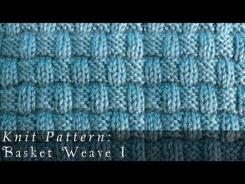 Basket Weave 1 | Knit Pattern - YouTube