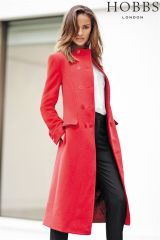 Gorgeous coat to keep out the cold - Hobbs London Red Coat | Style