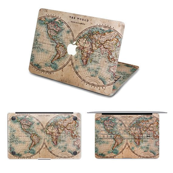 Old world map decals macbook pinterest fundas moviles old world map decals gumiabroncs Choice Image