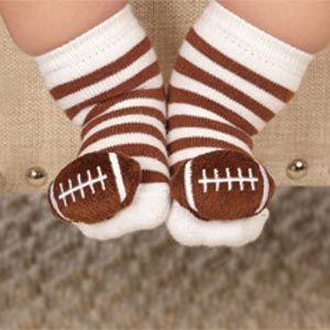0-12 Month Mud Pie Baby Boys Blue Football Socks