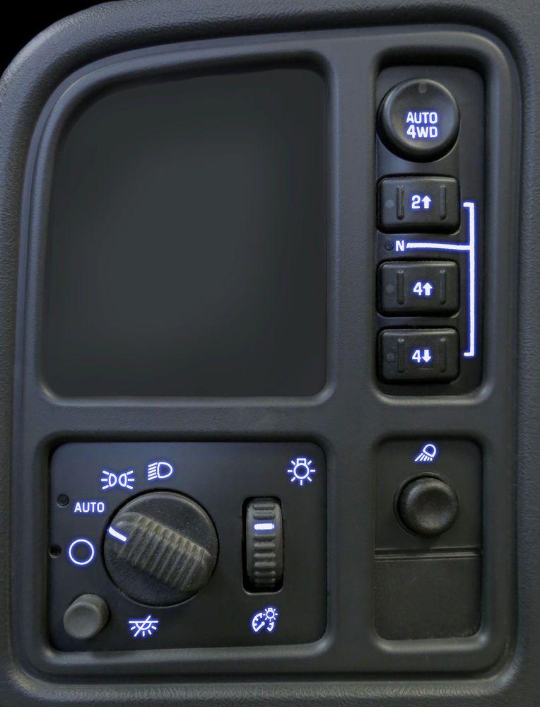 03 04 05 06 Silverado Tahoe Left Dash Switches 4wd Bulb Led Upgrade Kit Blue Chevy Silverado Accessories Chevy Trucks Silverado