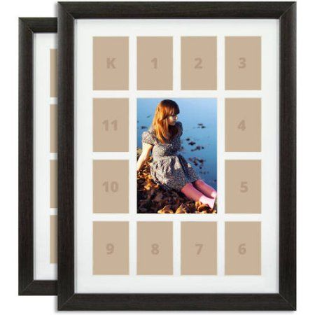 Craig Frames 12x16 School Days Collage Frame Set Of 2 Brown