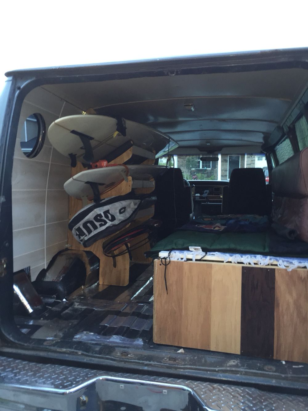 Surfboard Rack I Built For The Inside Of My Van It Can