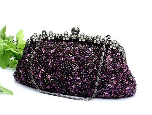 MZZ BEA038 Stunning Hollywood Style Fully Beaded & Sequined Evening Handbag Fashion Party Purse Bridal Accessory Cross Body Bag - more colors available (purple) Miss ZhuZhu,http://www.amazon.com/dp/B00C2DY62Q/ref=cm_sw_r_pi_dp_eOF8rb08NFE99G0K