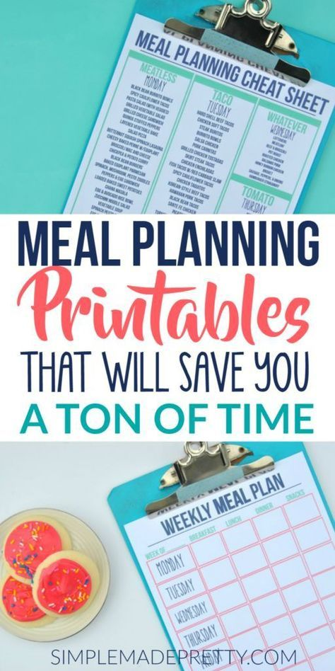 Meal Planning Printables & Strategies That'll Save You a Ton of Time! is part of Organization Journal Meal Planning - These meal planning ideas are on a budget and for beginners  Download some amazing meal planning printables that I use to plan our family meals every week  These meal prep ideas and strategies for clean eating will blow you away!