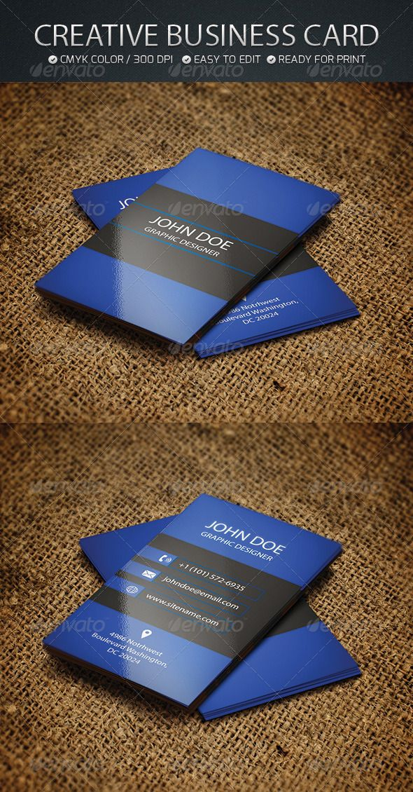 """Creative Business card  #GraphicRiver        Business Card Features: Ready to print vertical Dimension 300 DPI-CMYK 2.0×3.5 (2.25"""" x 3.75"""" with bleed) 300 DPI CMYK Print Ready! Custom Background  Fonts used, and available link (Free 100%)  Alegreya >>  .fontsquirrel /fonts/alegreya Jockey-one >>  .fontsquirrel /fonts/jockey-one     Created: 15October13 GraphicsFilesIncluded: VectorEPS Layered: No MinimumAdobeCSVersion: CS6 Tags: 300dpi #blue #business #businesscard #creative #epsfile…"""
