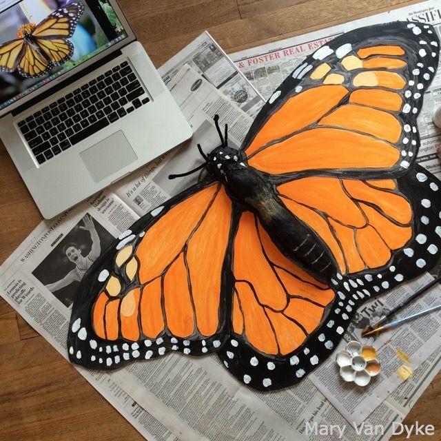 Monarch butterfly body - photo#32