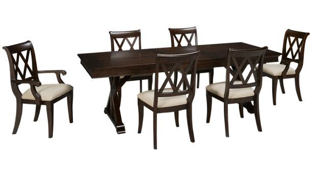 1400 China Cabinet Legacy Classic Thatcher 7 Piece Dining Set