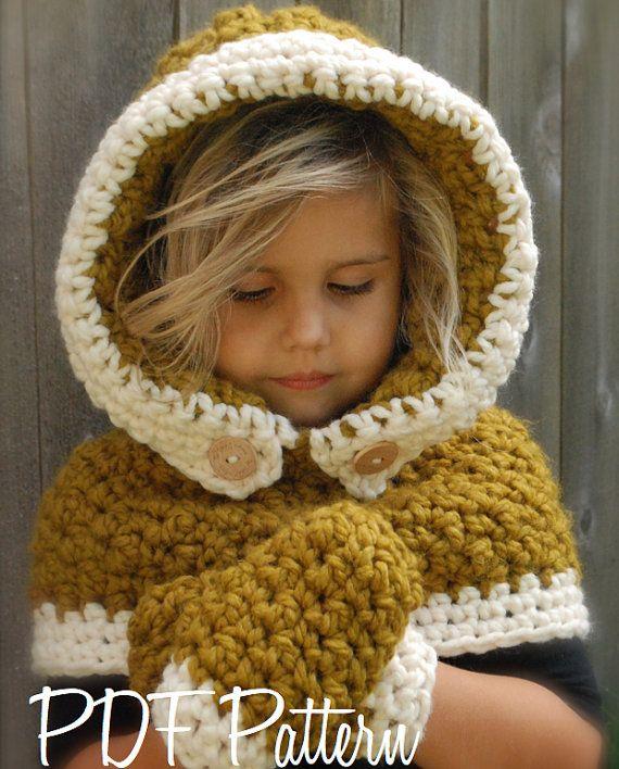 Crochet PATTERNThe Feryn Hood/Mitten Set 3/6 by Thevelvetacorn ...