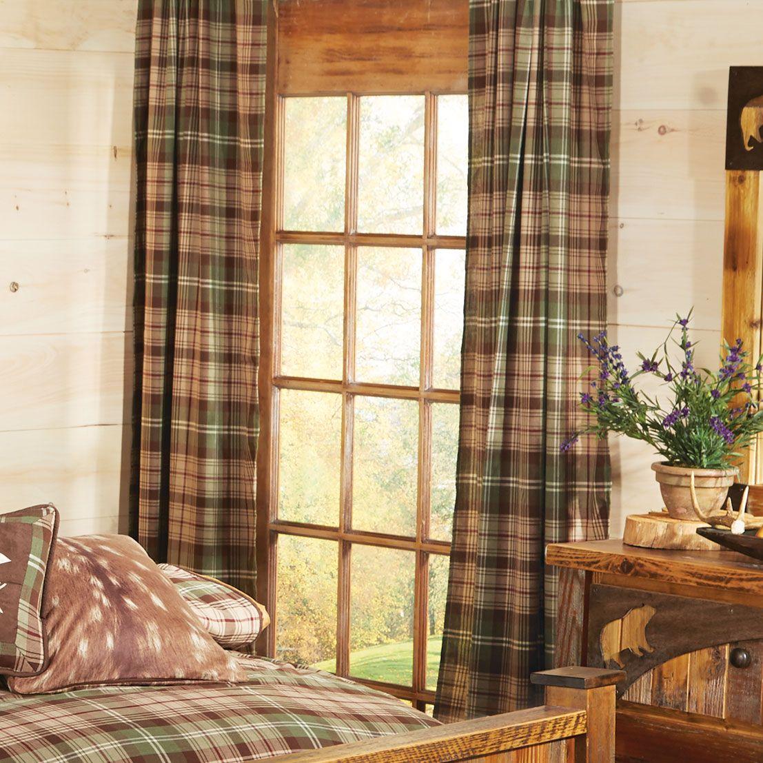 ... cabin window treatments and lodge style curtains. Durango Plaid Curtain