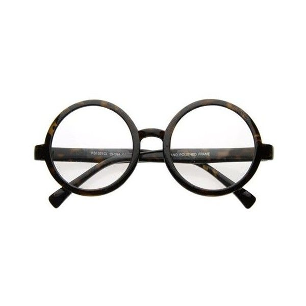 7f4704eb67 Vintage Inspired Eyewear Round Circle Clear Lens Glasses Eyeglasses ( 9.99)  found on Polyvore