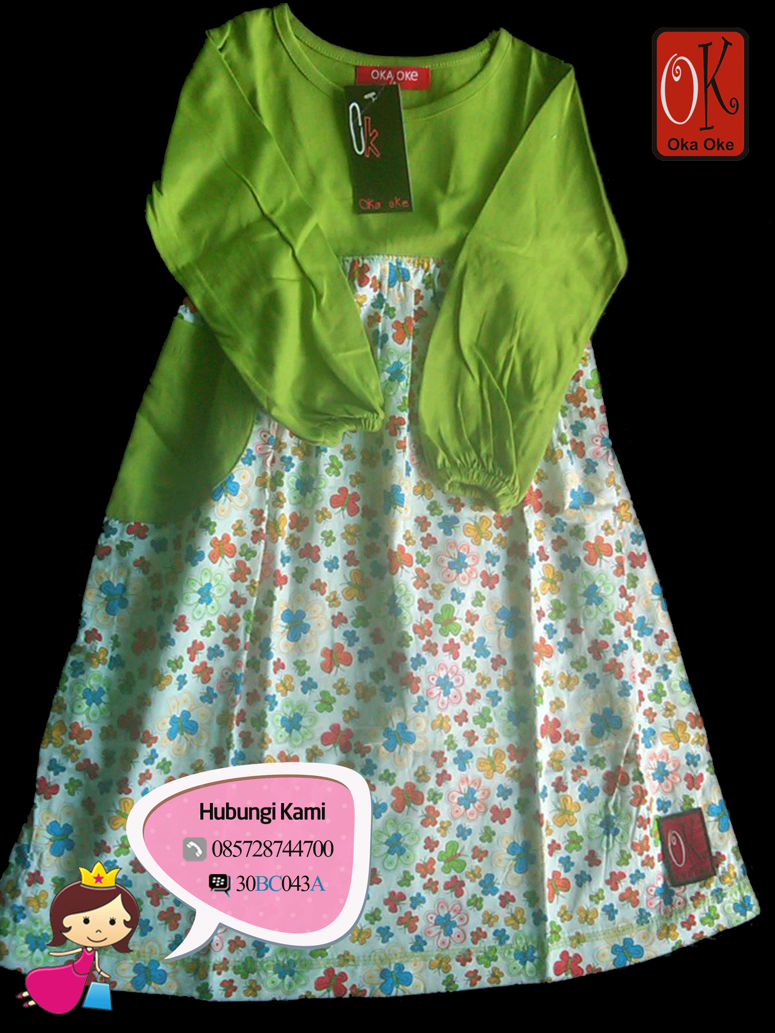 Baju Gamis Muslim Anak Konveksi Oka Oke Menggunakan Bahan Kaos kombi Katun  dengan berbagai pilihan motif   warna. 103fdffba3