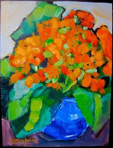 Kolanchoe - acrylic by ©Diane Campion (via DailyPaintworks)