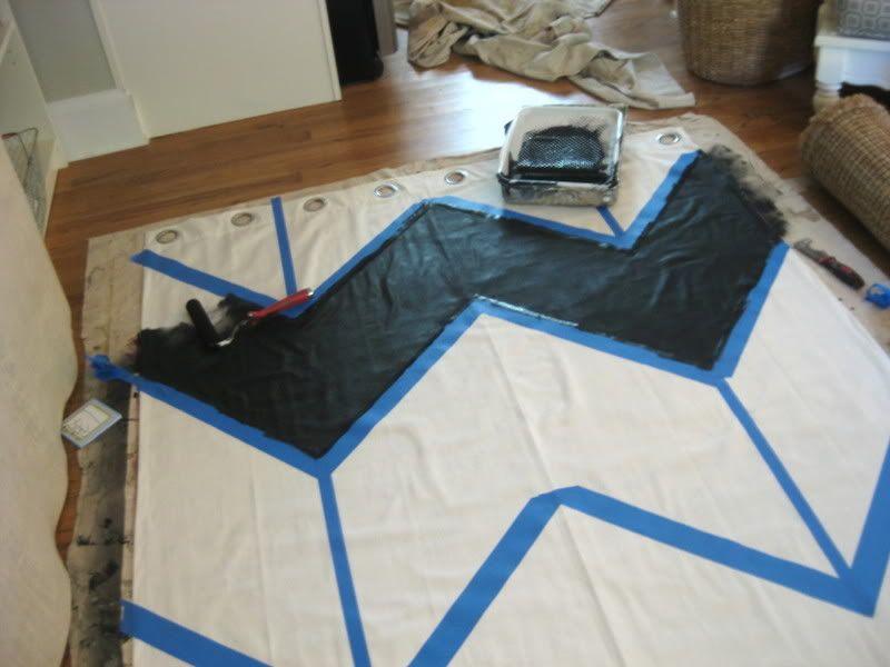 DIY Chevron Curtains!