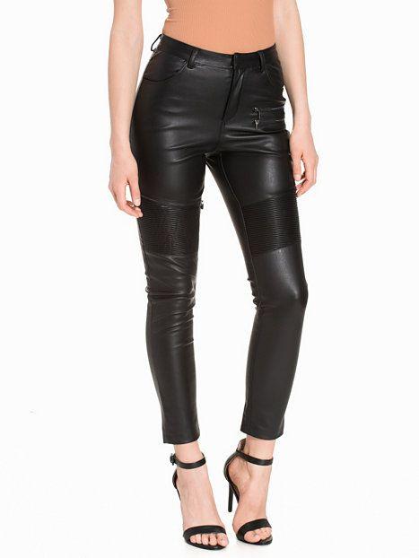 Faux-Leather Biker Trouser Topshop 7ff305ff933eb