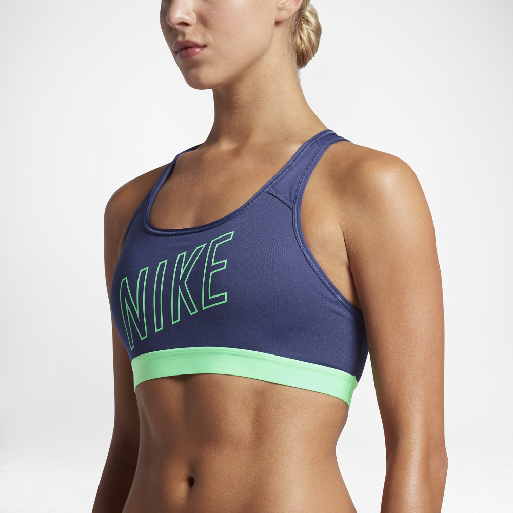 153da79d665c6 Nike Classic Padded Logo Women s Sports Bra Size X