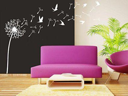 Wall Decal Vinyl Sticker Decals Art Decor Design Dandelion Flower - Wall decals nature and plants