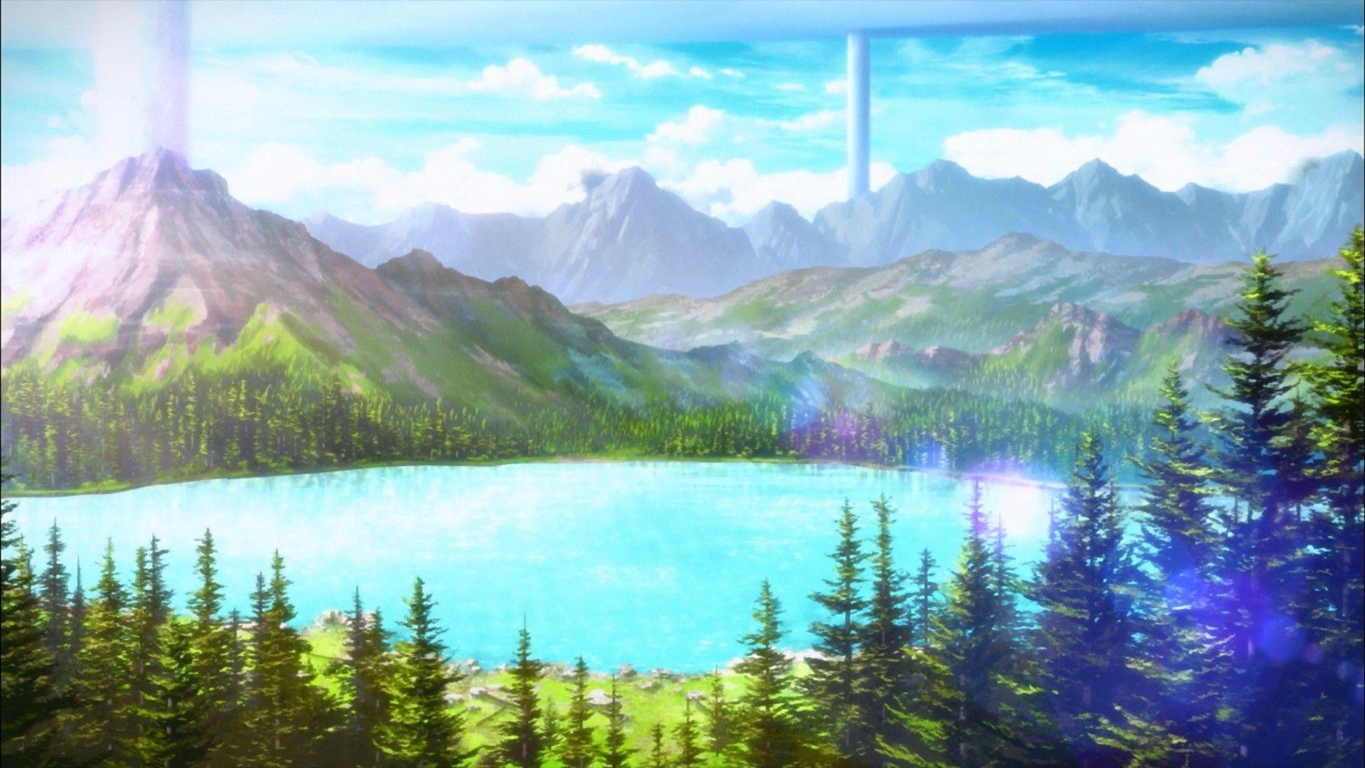 Anime 1920x1080 anime landscape Sword Art Online mountains