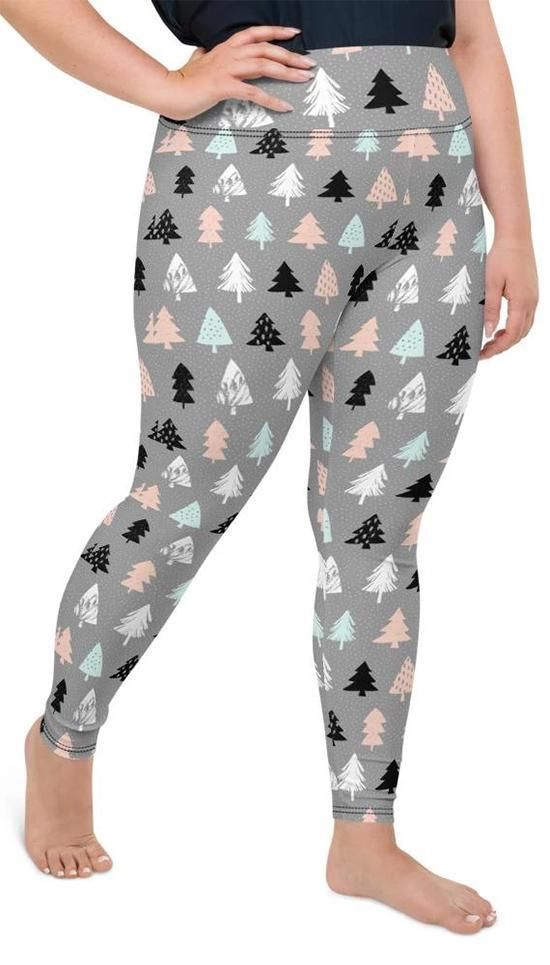 Photo of Cute Minimalistic Christmas Plus Size Leggings