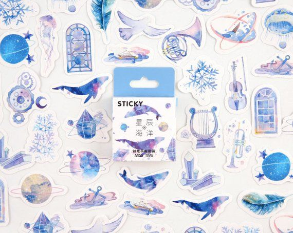46pcs Cute Butterfly Stationery DIY Diary Sticker Paper Label Scrapbooking Decor