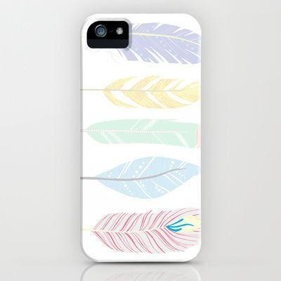 Whimsical Feather Art iPhone & iPod Case by Georgie Pearl Designs - $35.00
