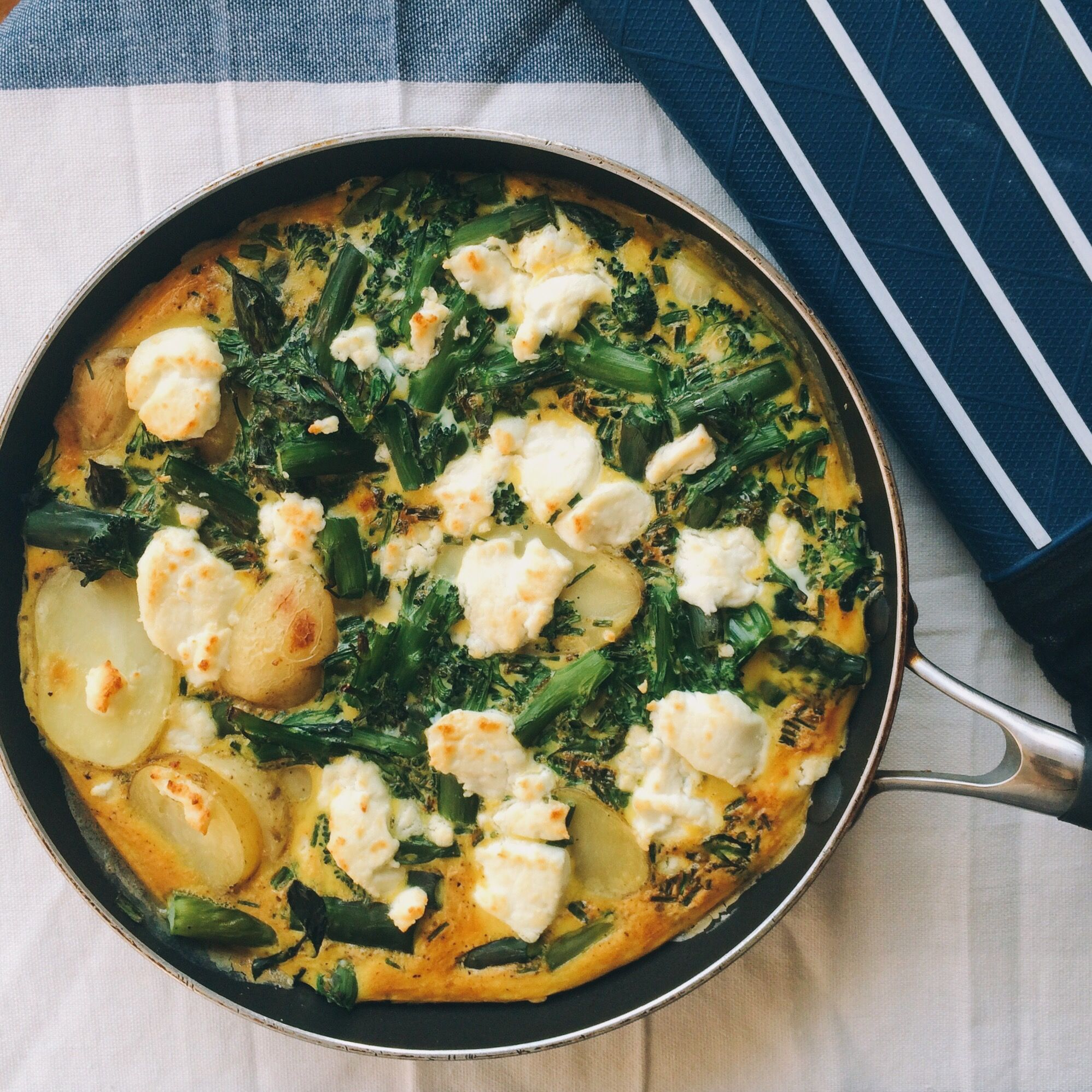 Frittata with Summer Veg and Goat's Cheese