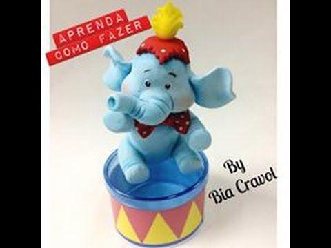 Elefante de biscuit - aula de biscuit - tema circo - Bia Cravol - YouTube