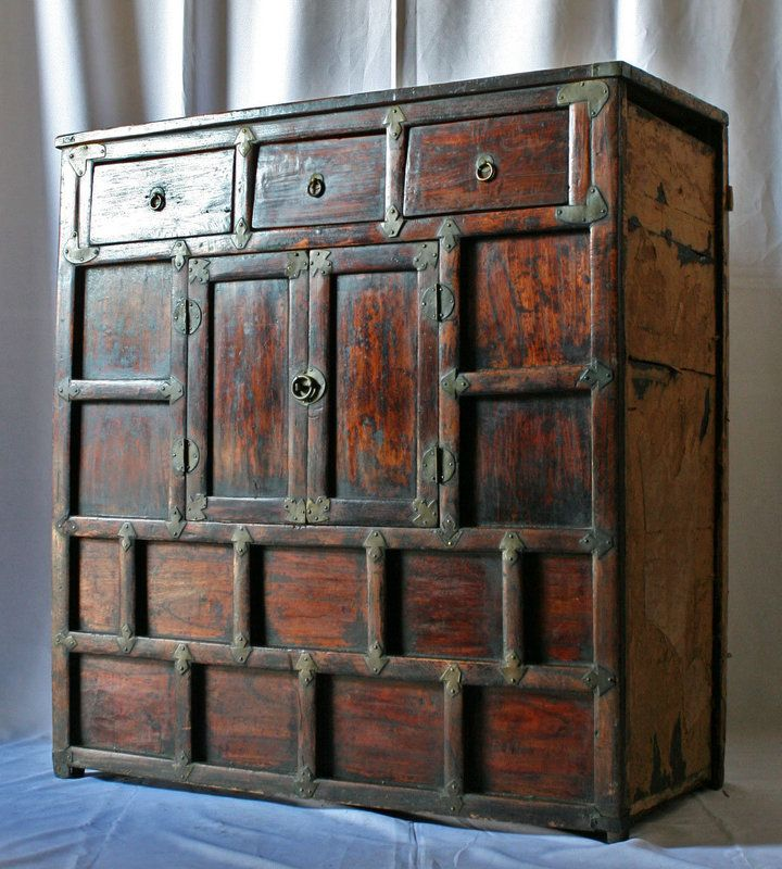 Excellent Antique Korean Kitchen Chest With Kchen Mbel.