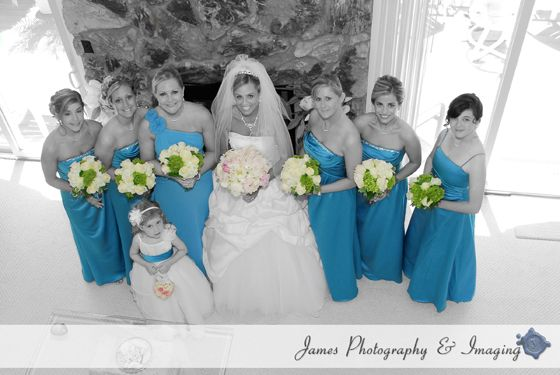 Bride with Bridesmaids. - New Jersey Wedding | James Photography and Imaging |  www.jamesphoto.com #jpiweddings #wedding #weddingphotography