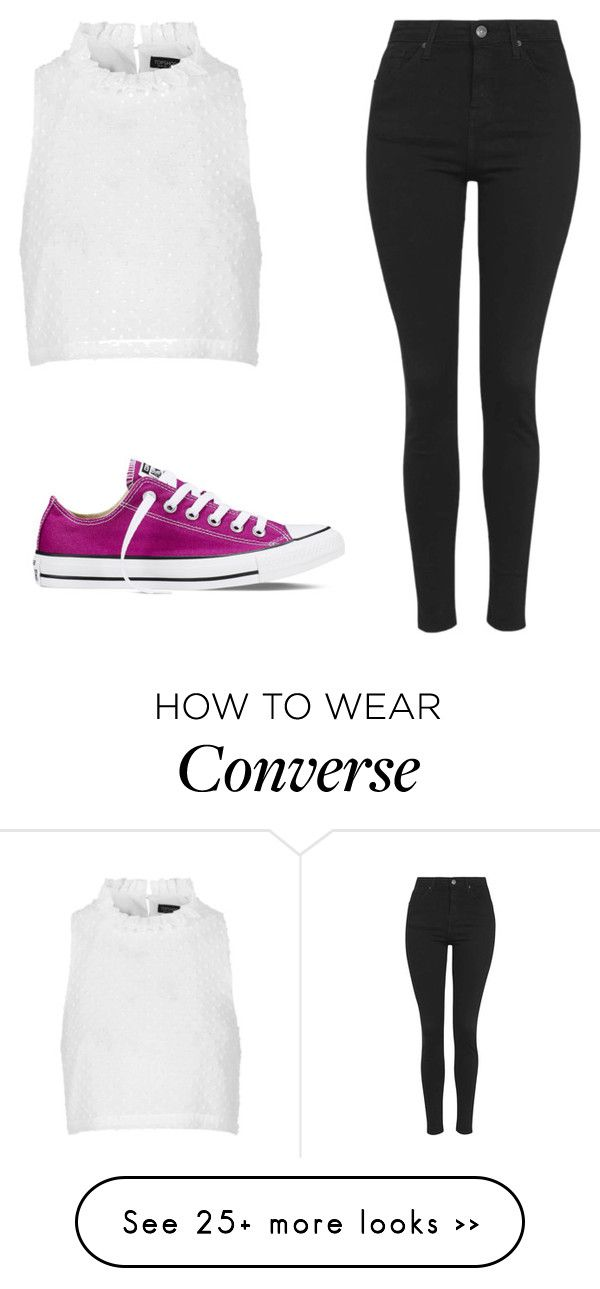"""A casual dress up"" by jewelqueen on Polyvore featuring Topshop and Converse"