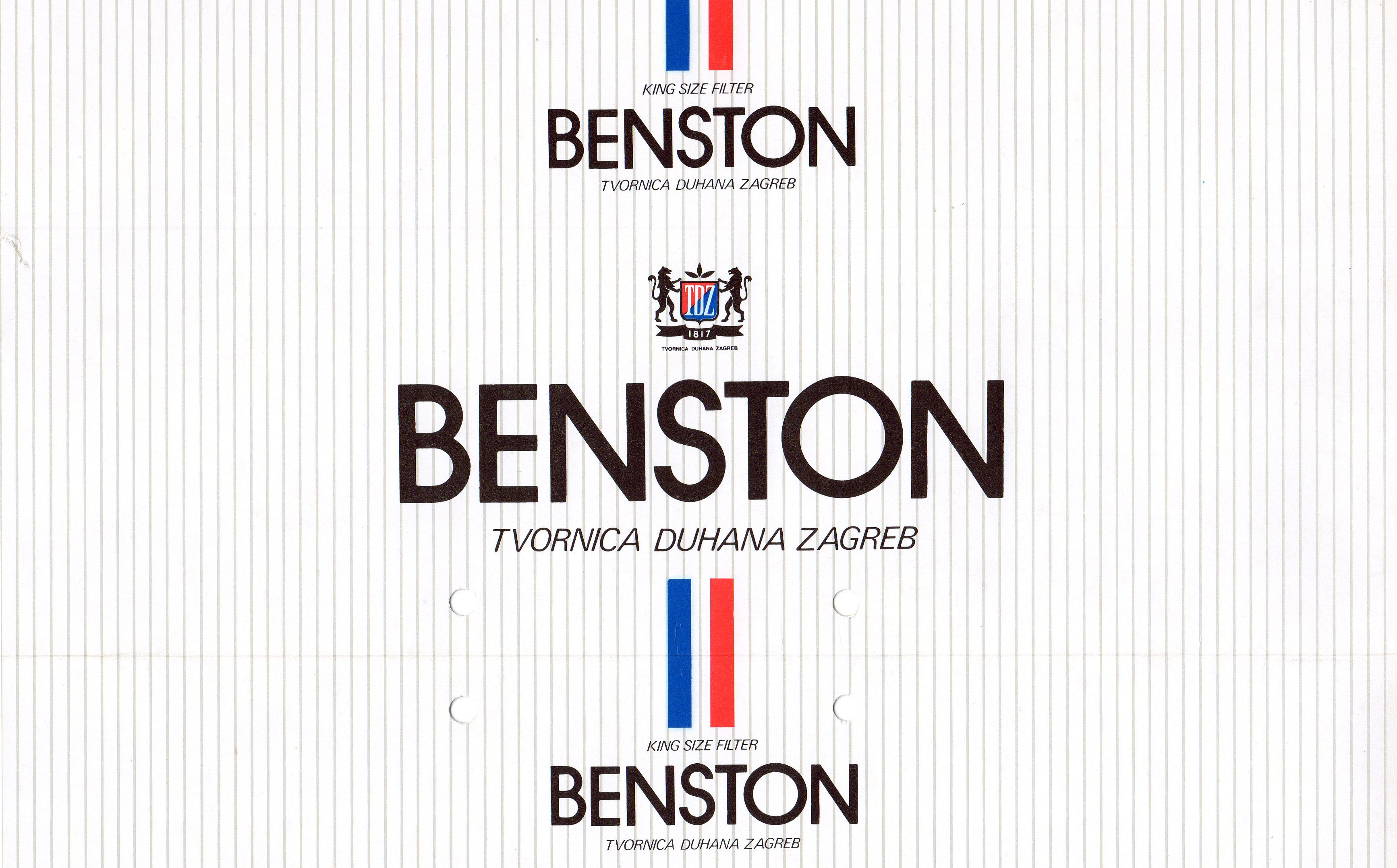 Original Outer Box For Benston Cigarettes Advertising Material Tech Company Logos