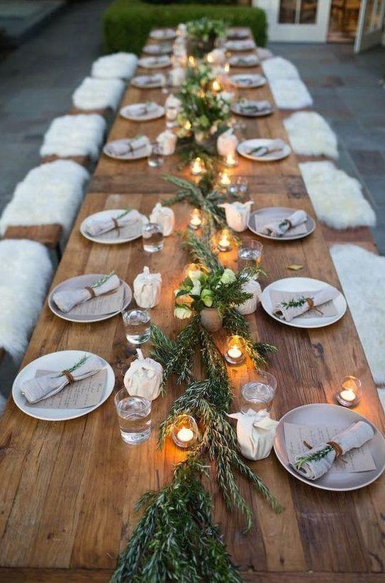 30 Gemütliche Rustikale Hochzeit Tisch Deko-Ideen — Modekreativ.com #rustikaleweihnachtentischdeko