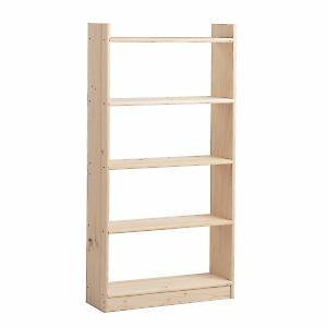 Scaffale legno natura l 80 x p 25 x h 180 cm grezzo 40 for Libreria leroy merlin