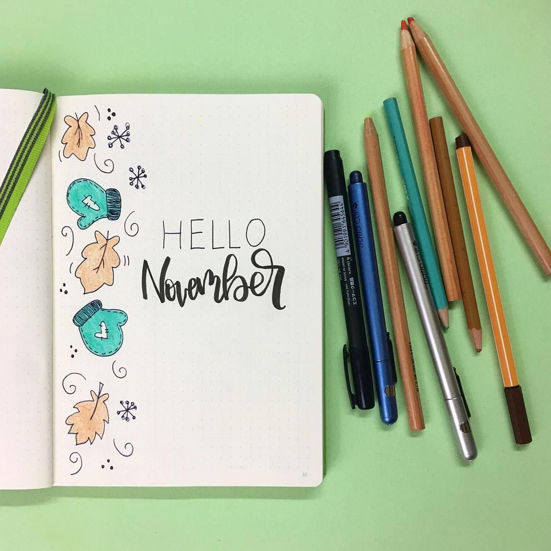 Bullet journal monthly cover page, November cover page, Winter art. @byouplanner bulletjournalkeypage #keepingabulletjournal #bulletjournaloctober #bulletjournalquotes #bulletjournals #bulletjournalhowtostarta #bulletjournallayout #bulletjournalinspiration #bulletjournalideastemplates #novemberbulletjournalcover