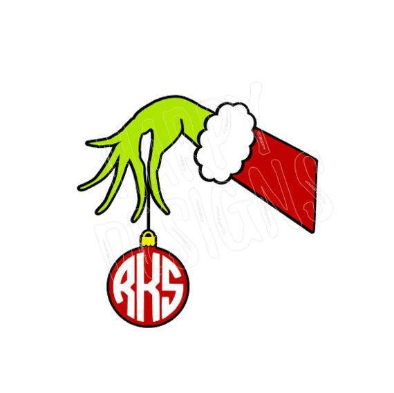 grinch hand holding ornament svg file grinch cricut grinch stole christmas christmas svg