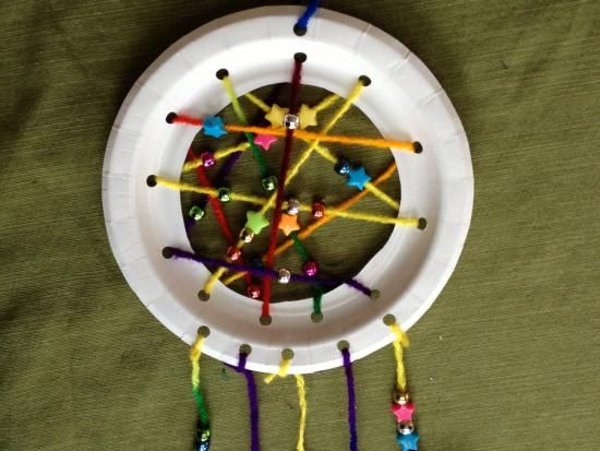 Dream Catchers For Children Paper Plate Dreamcatchers Kids Crafts Activities for Children 34