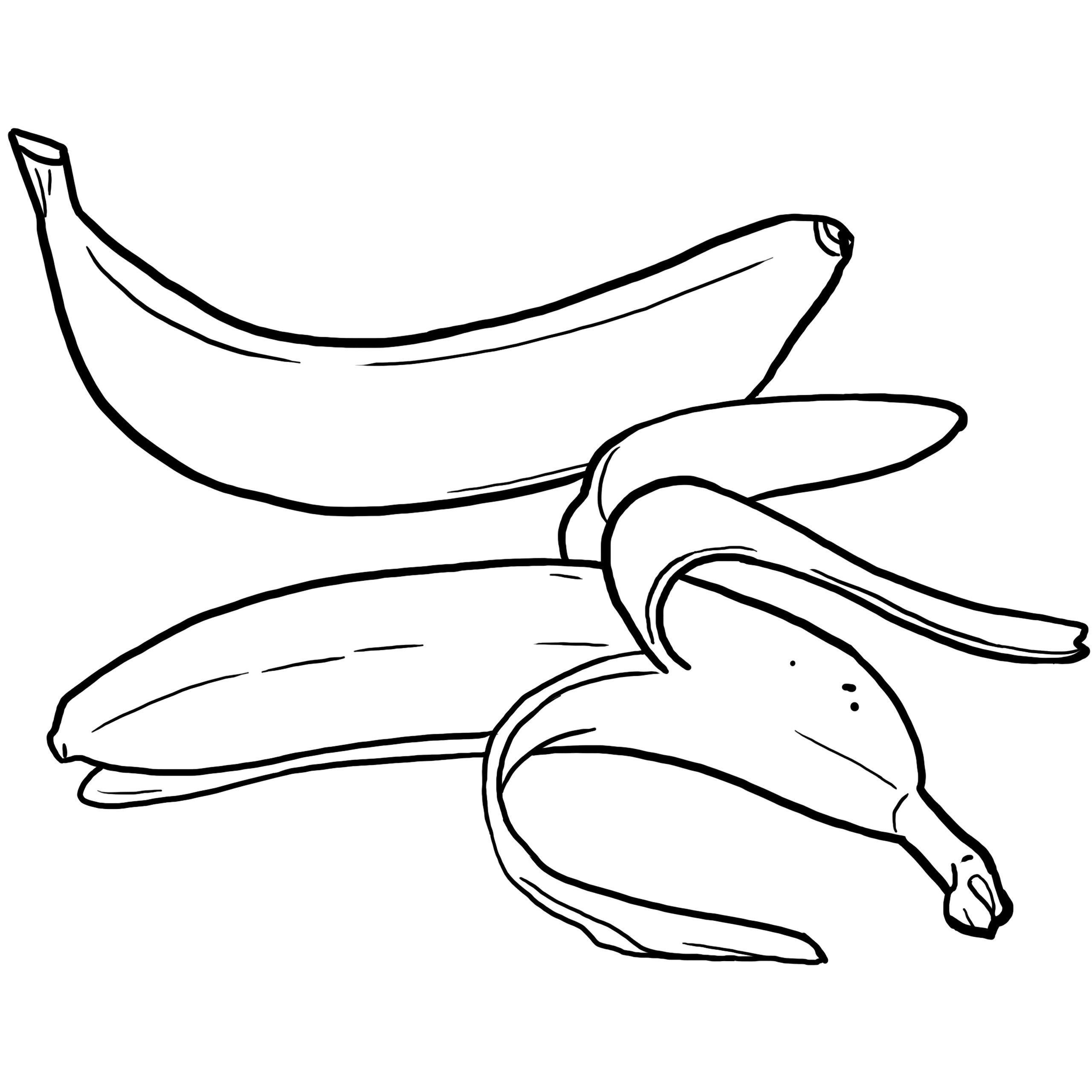 Banane Dessin A Colorier Coloriage Printable Pdf Jeu A