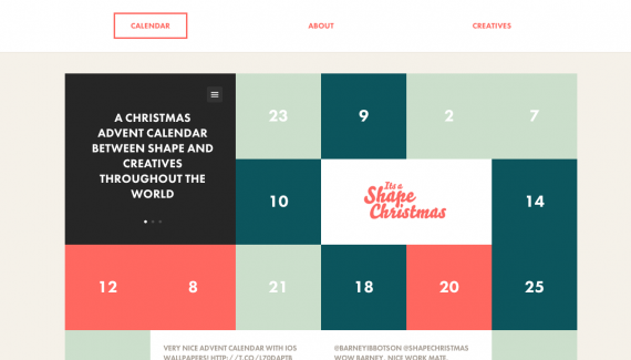 It's a Shape Christmas - Web design inspiration from siteInspire