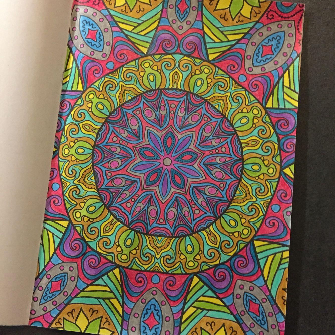 Kleuren Voor Volwassenen Roze Kleurboek Action Coloring Book