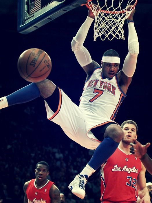 carmelo anthony new york knicks knicks dunking