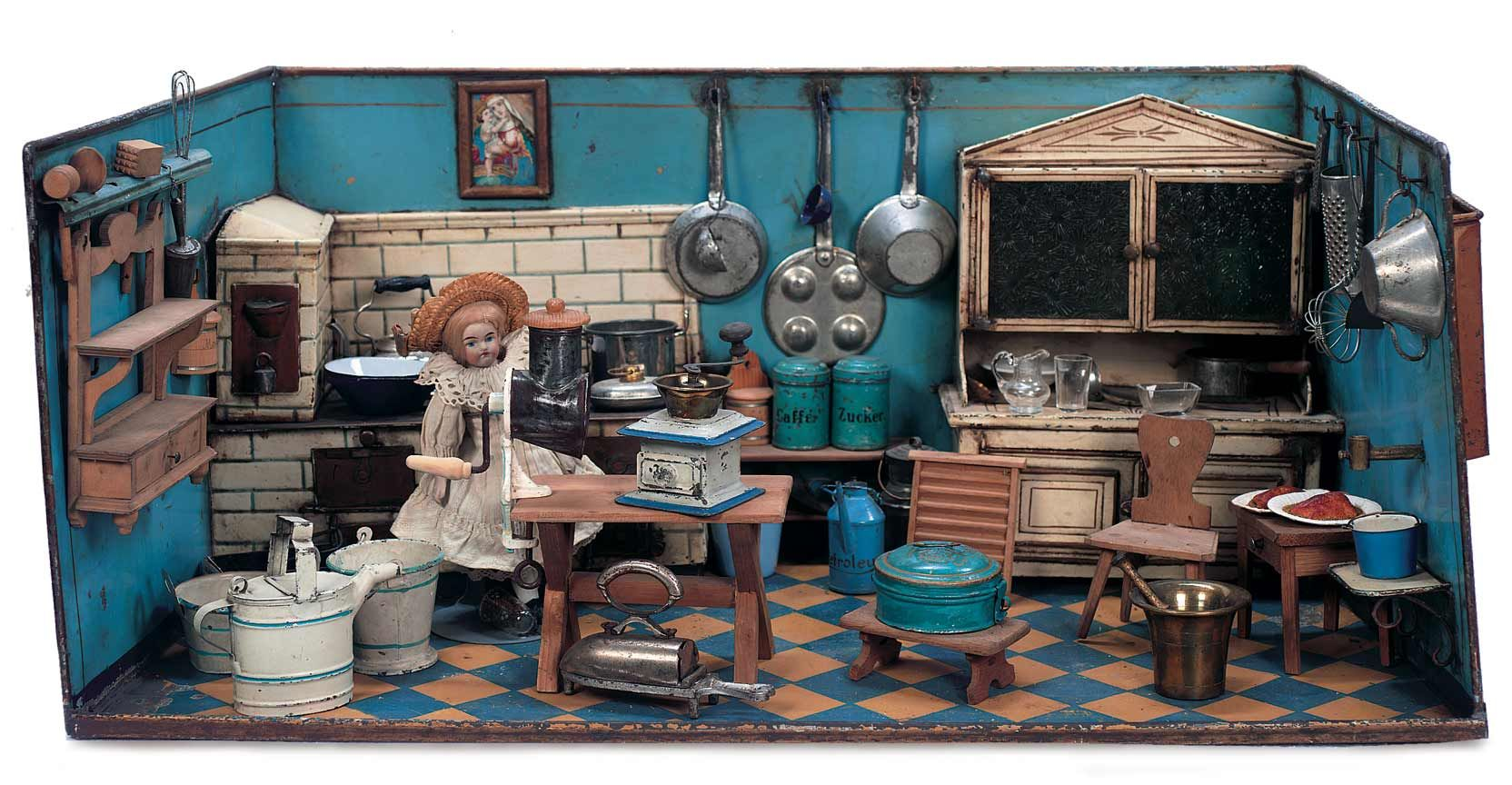 View catalog item theriault 39 s antique doll auctions interiores pinterest escena cocina - Casas en escena ...