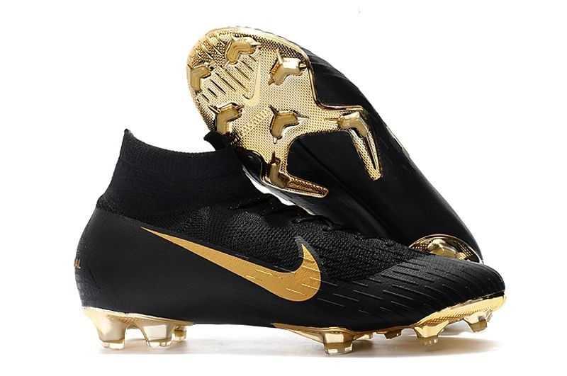 b8d977030 Discount Nike Mercurial Superfly VI 360 Elite FG Sock Soccer Cleats - Gold  Black