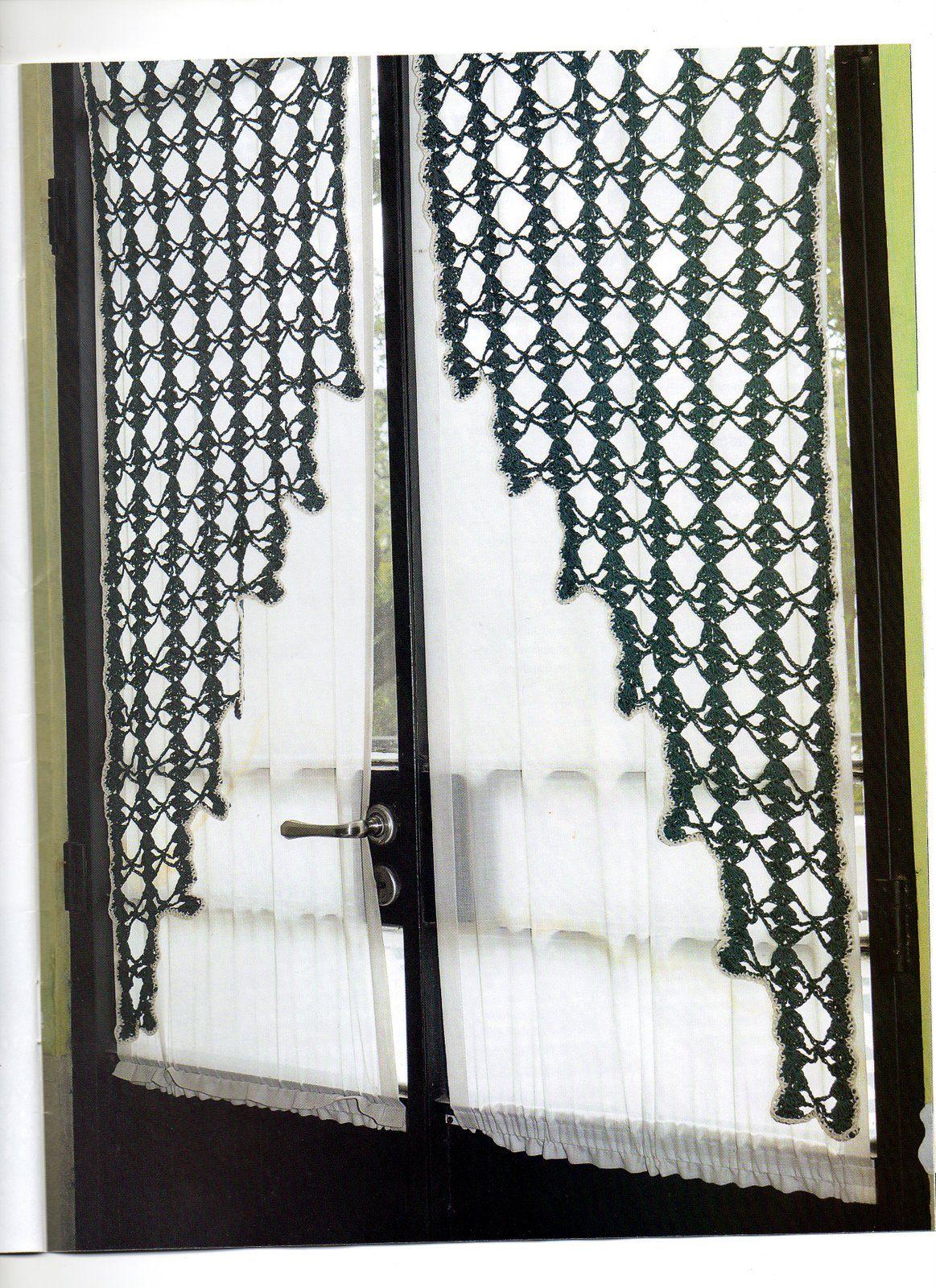 Edivana Croche: Cortina diferente | CROCHET CURTAIN (Perde ...