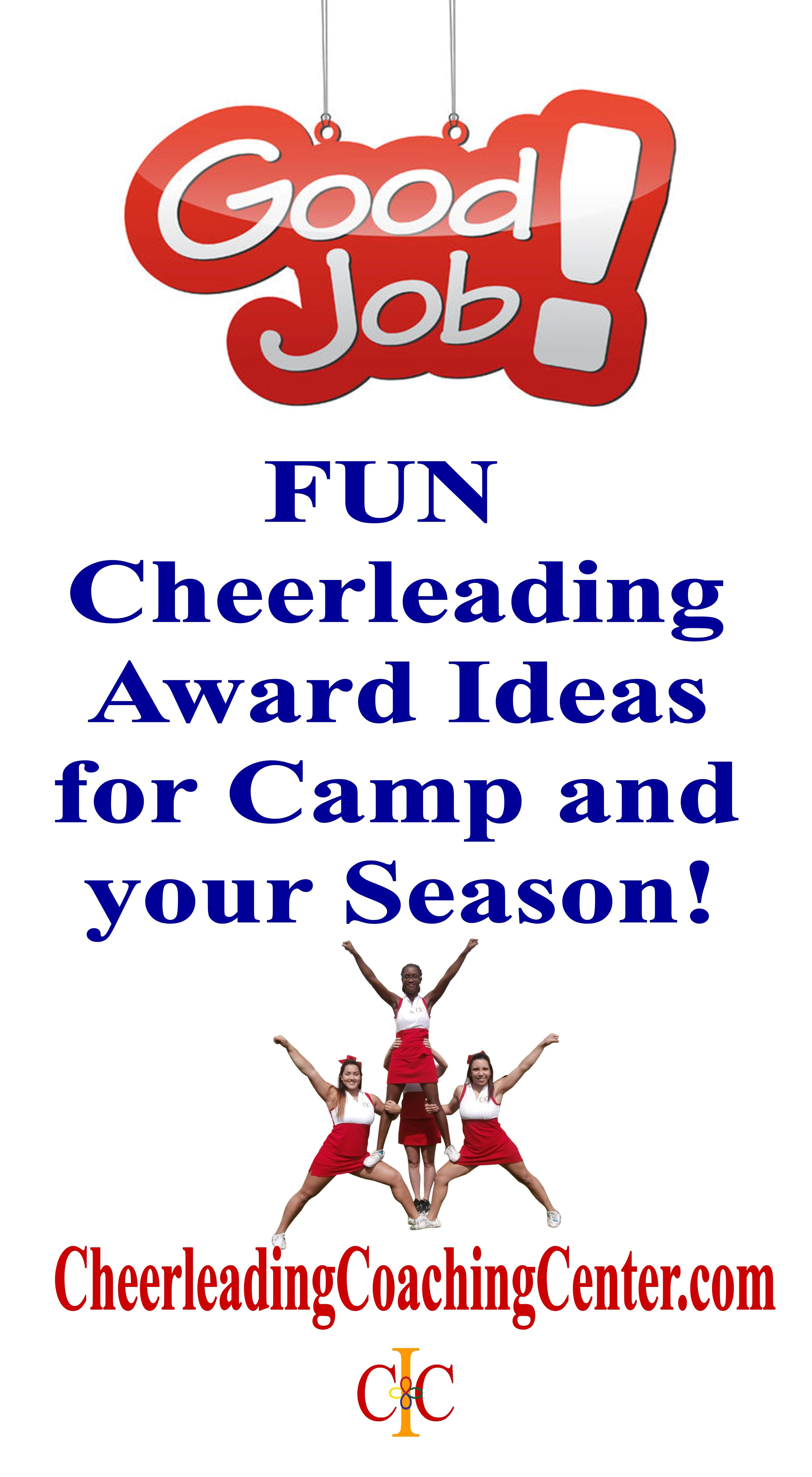 giving out cheerleading awards throughout your season is a great way