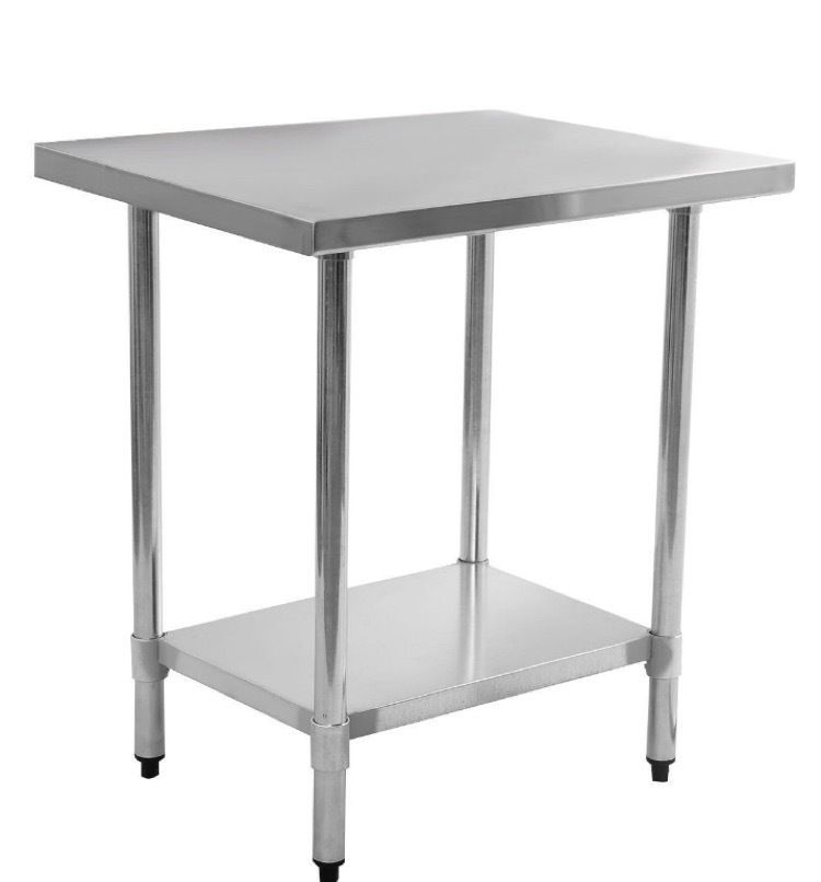 Details About Stainless Steel Work Bench Prep Table Food X - Commercial grade stainless steel table