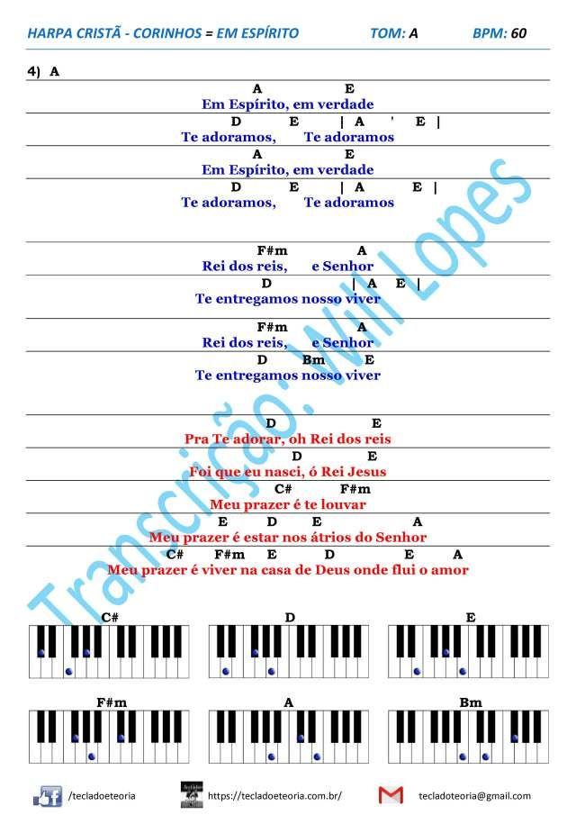 Harpa Crista Corinhos Em Espirito Cifras Simplificadas