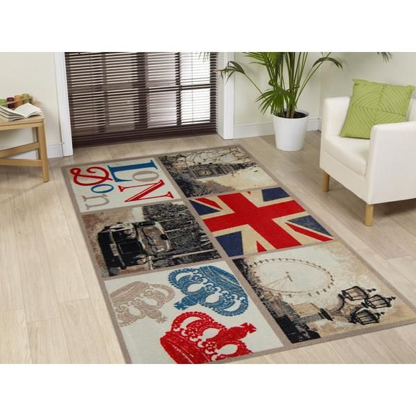 World Pictures London Squares Rug 150 X 100cm Modern Great Gifts At Deals Direct