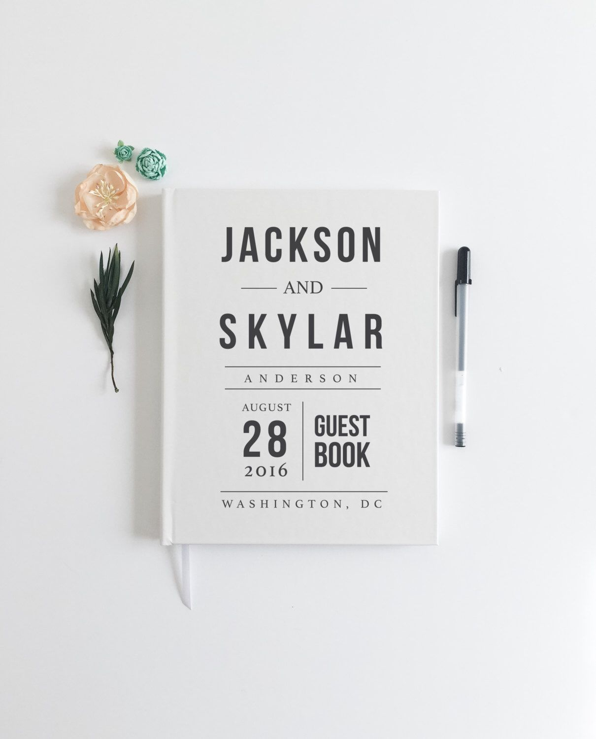 Modern Hipster Wedding Guestbook Infographic Wedding Guest Book