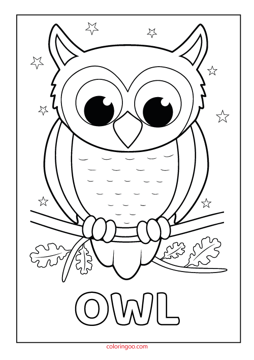 Owl Printable Coloring Drawing Pages Owl Coloring Pages Owls Drawing Owl Drawing Simple