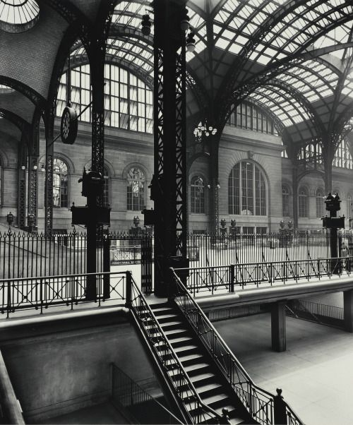 Pennsylvania Station, as photographed by Berenice Abbott in the 1930s